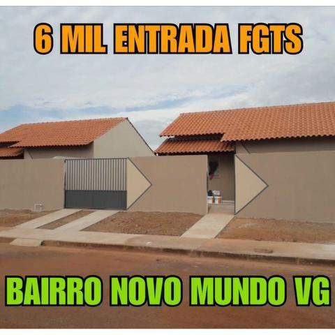 Casa Bairro Novo Mundo Quadrada - Foto 3