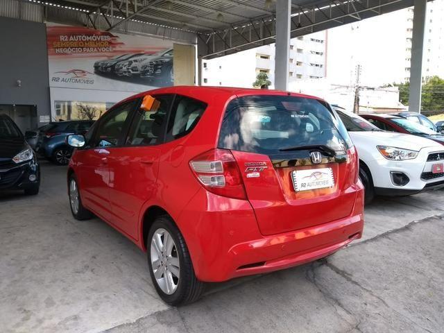 Honda 2014 Fit ex 1.5 Automatico Direcao Eletrica completo vermelho 2014 - Foto 6