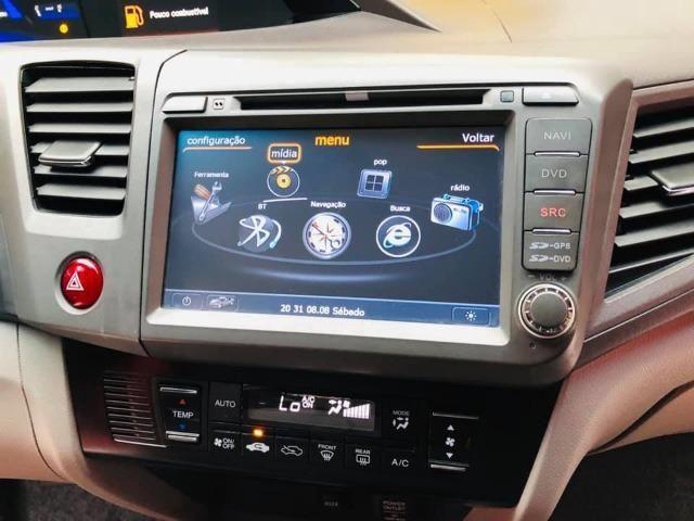 Honda Civic 2014 lxr automático + kit multimídia, carro impecável !!! - Foto 15
