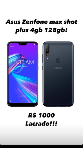 Asus zenfone Max shot plus 128 Gb