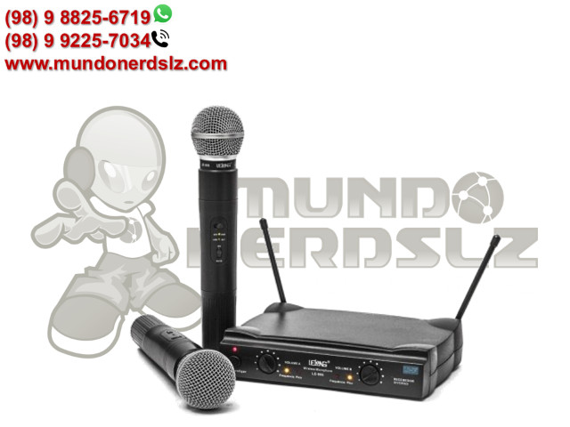 Microfone Sem Fio Duplo Uhf Wireless 110/220 Vts Lelong Le-906 em São Luís Ma - Foto 3