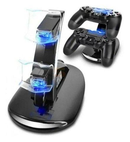 Base Carregamento Duplo Controles PS4 - Novo