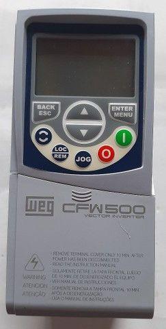Inversor de Frequência WEG CFW500 380V 2.6A 1CV Novo