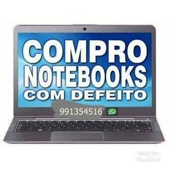 Compr notebook com defeitos e funcionando