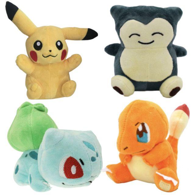 Pokémons Pikachu Eevee Bulbassaur Snorlax Psyduck Charmander Cartepie  Pokebola - Foto 2