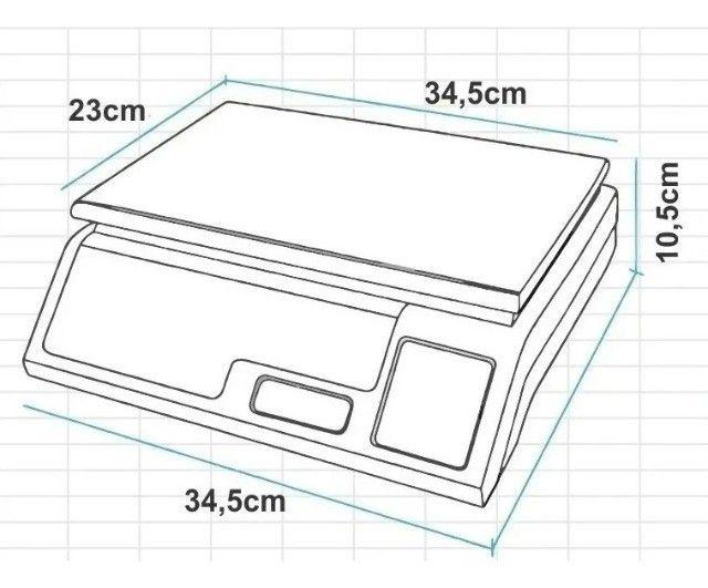 Balança Eletrônica Digital 40kg Alta Precisão/bateria recarregável - Entrega grátis - Foto 5