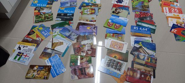 222 Cartões Telefônicos e de Recargas Para Coleções  - Foto 4