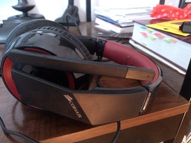 Headset Gamer Corsair P2 Stereo 2.0 Preto E Vermelho Hs30 - Foto 3