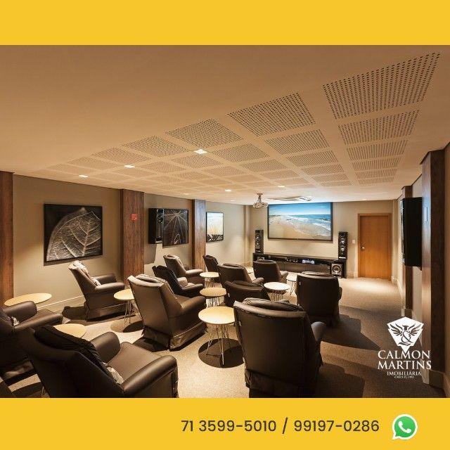 Apartamentos em 115m² com 3 suítes, 2 vagas, vista mar - Patamares  - Foto 7