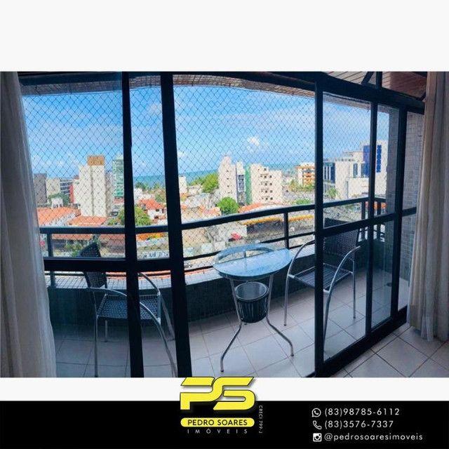 (MOBILIADO) Apartamento com 3 dormitórios para alugar, 166 m² por R$ 6.000/mês - Tambaú -  - Foto 3