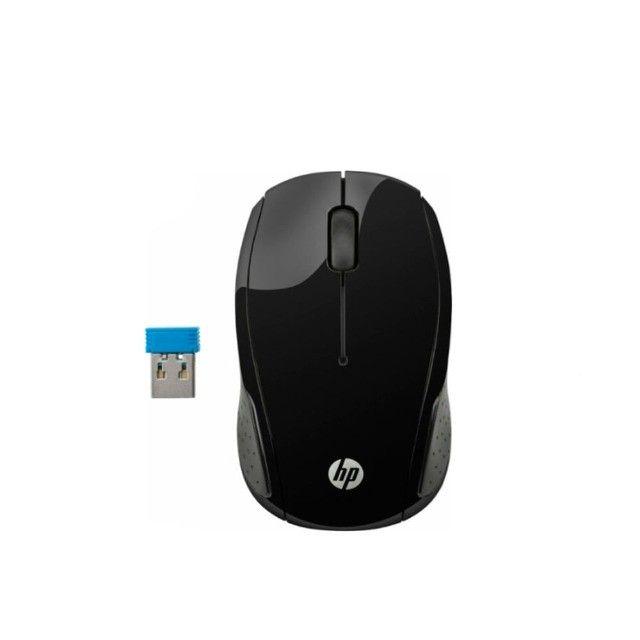 Mouse Sem Fio 1000 DPI Preto HP 200 - Loja Dado Digital - Foto 4