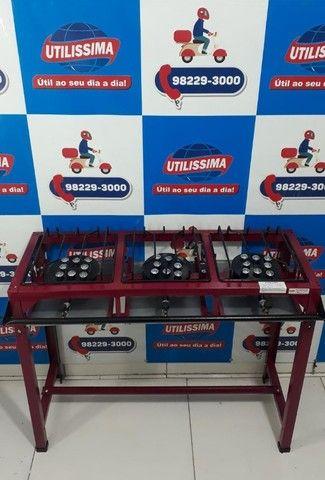 Fogão Industrial 3 bocas de pé / marca roa  - Foto 3