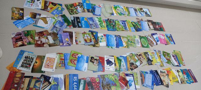 222 Cartões Telefônicos e de Recargas Para Coleções  - Foto 2