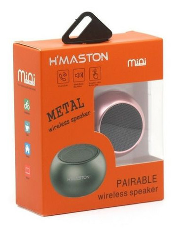 Mini Caixa de Som Bluetooth 3w H'maston Metal - Foto 3