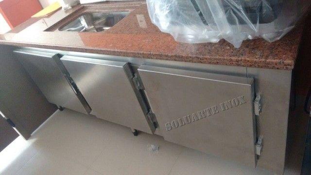 balcão freezer/refrigerado todo de aço inox, tudo 100% inoxidavel!!!!! - Foto 4