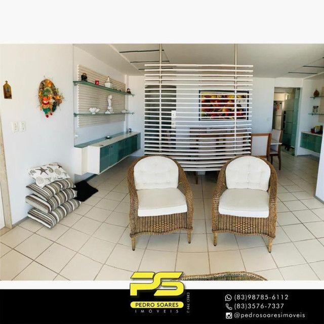 (MOBILIADO) Apartamento com 3 dormitórios para alugar, 166 m² por R$ 6.000/mês - Tambaú -  - Foto 6