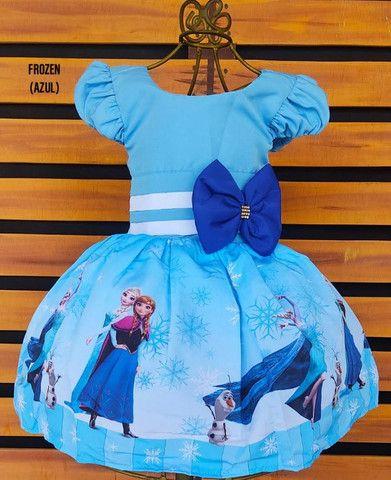 Vestido Frozen Tamanho 8