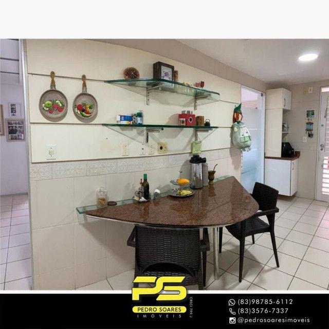 (MOBILIADO) Apartamento com 3 dormitórios para alugar, 166 m² por R$ 6.000/mês - Tambaú -  - Foto 8