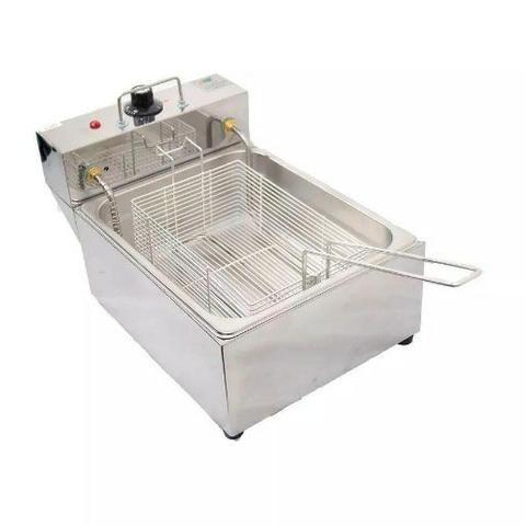 Fritador Elétrico 5 Litros Quadrado Inox 50° A 300° - Cód 12