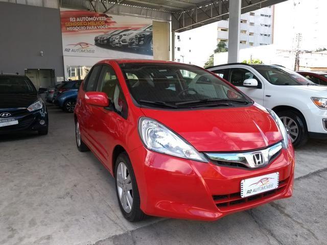 Honda 2014 Fit ex 1.5 Automatico Direcao Eletrica completo vermelho 2014 - Foto 3