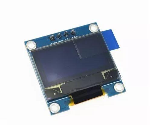 COD-AM48 Display Oled 128x64 Gráfico 0.96 I2c Serial Azul Arduino Esp Pic Robotica - Foto 2