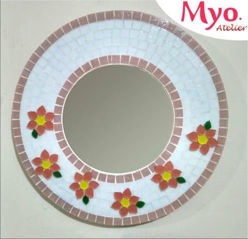 Moldura espelho Mosaico flores - Foto 5
