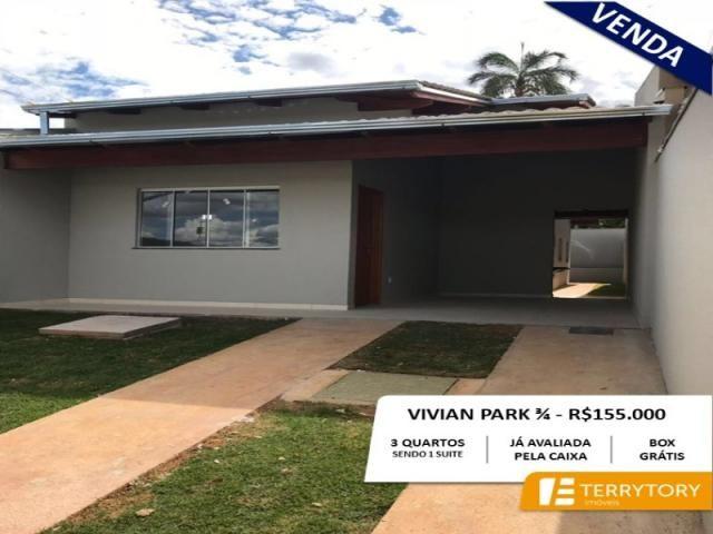 Casa à venda com 3 dormitórios em Viviam parque 2a etapa, Anápolis cod:CA00163