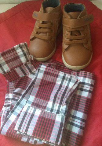 Desapego botinha e camisa