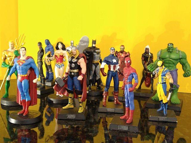 Coleção miniaturas de heróis (14 peças)
