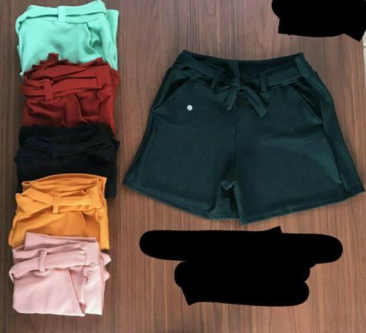 shorts cintura alta c