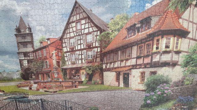 Quadro - Quebra-cabeça Vila Europeia para fazer quadro - Foto 3