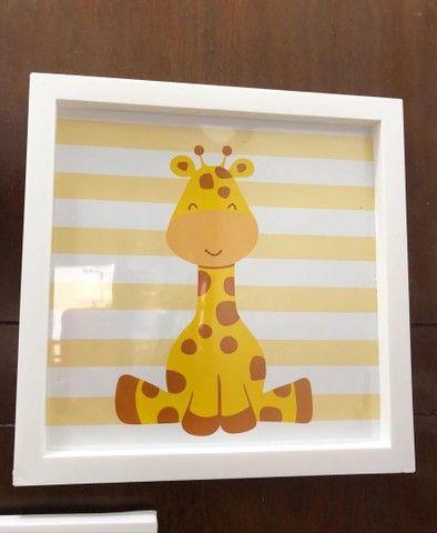 Kit infantil com 3 quadros para a decoração do quarto do bebê. 25x25 - Foto 6