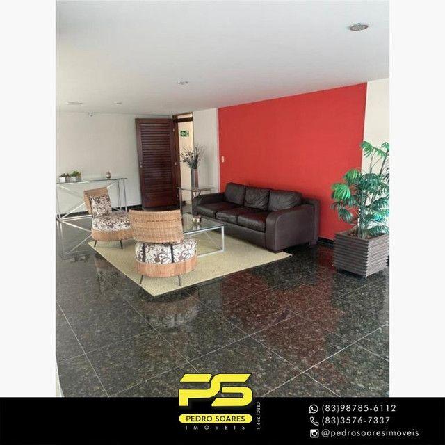 (MOBILIADO) Apartamento com 3 dormitórios para alugar, 166 m² por R$ 6.000/mês - Tambaú -  - Foto 12
