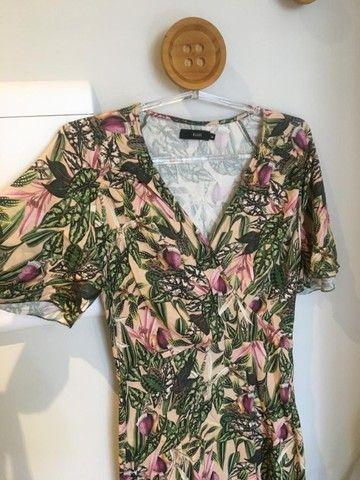 Vestido estampado floral da Ellus - TAM 38 - usado - Foto 3