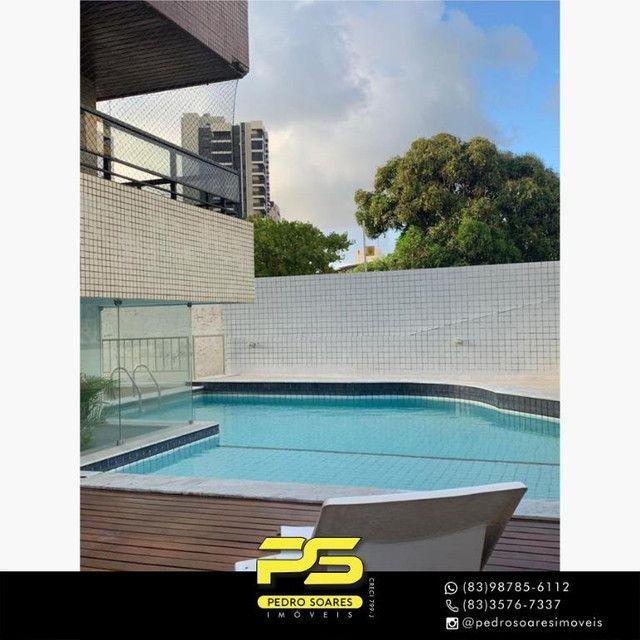 (MOBILIADO) Apartamento com 3 dormitórios para alugar, 166 m² por R$ 6.000/mês - Tambaú -  - Foto 5