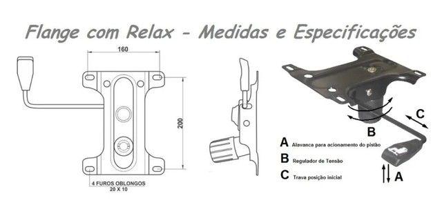 Flange Mecaniscmo Com Relax Para Cadeira Diretor, Presidente