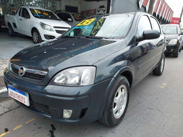 Corsa Sedan Premium 1.8 Flex 2008 COMPLETO + AIRBAG - Foto 3