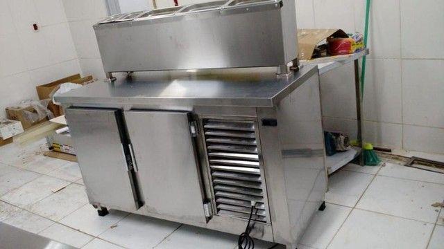 balcão freezer/refrigerado todo de aço inox, tudo 100% inoxidavel!!!!! - Foto 5