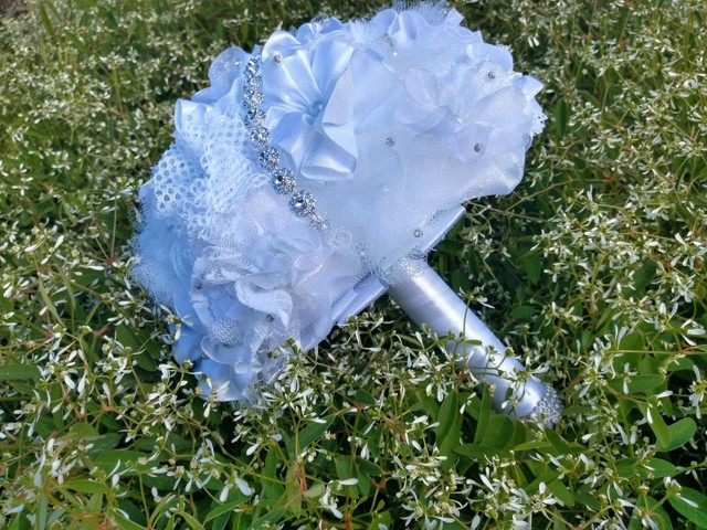Buquê de Noiva Artesanal Branco