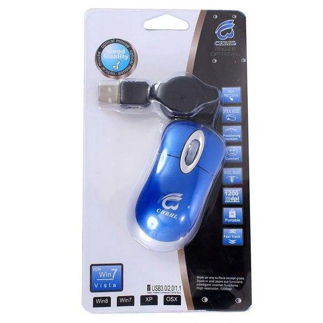 Mouse Optical Portátil Com Caso USB Retrátil