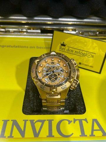 Relógio noma 5 banhado a ouro novo  - Foto 2
