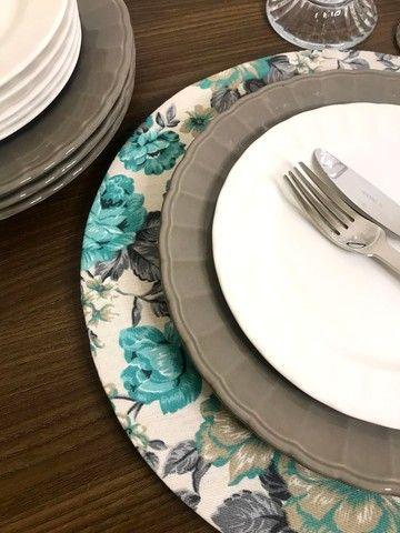 Conjunto 4 pratos rasos cinza - Foto 2