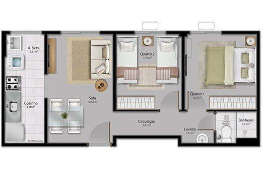 Apartamento em Serra Sede, Minha casa minha Vida