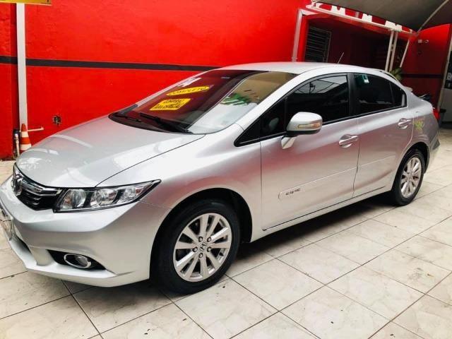 Honda Civic 2014 lxr automático + kit multimídia, carro impecável !!! - Foto 6