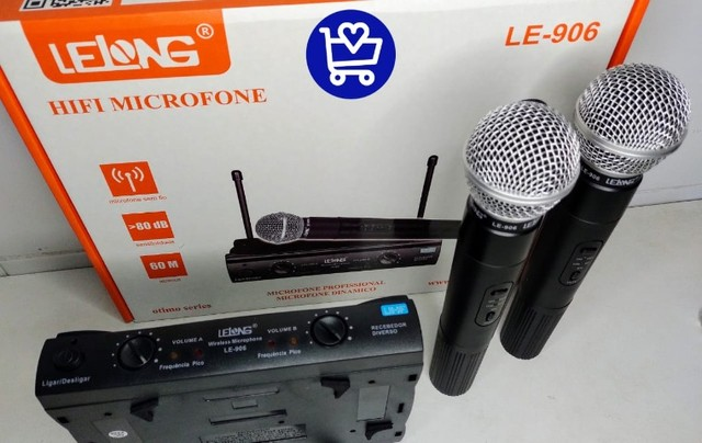 *Microfone profissional dinâmico LE-906*???   - Foto 3