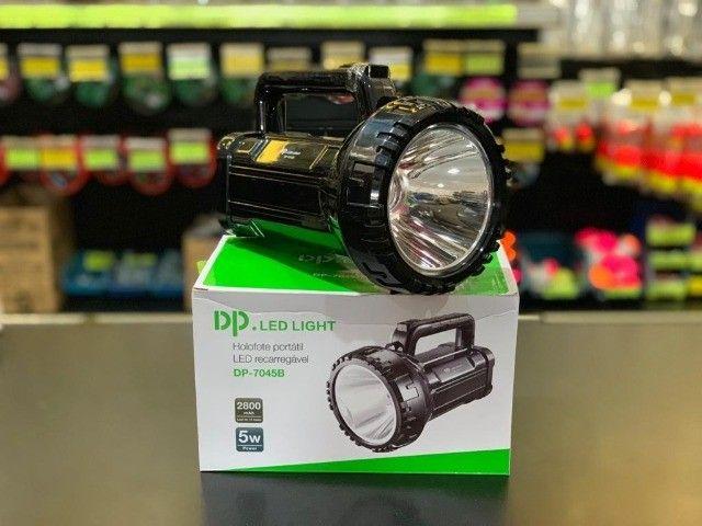 Lanterna Holofote Led Recarregável 500 Metros Super Led (NOVO) - Foto 2