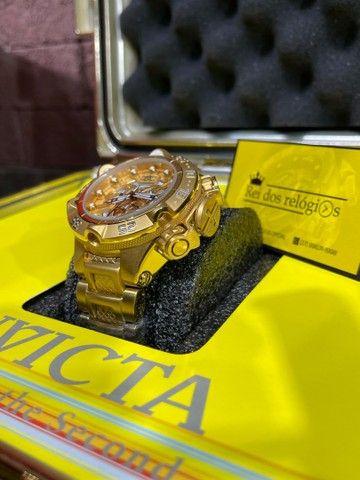 Relógio noma 5 banhado a ouro novo  - Foto 3