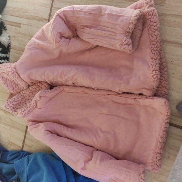 Casaco de pelúcia menina 1 ano - Foto 3
