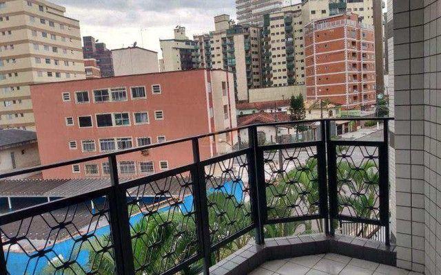 Apartamento em Praia grande - Canto do Forte, SENDO: 02 dormitórios, 01 sala ampla