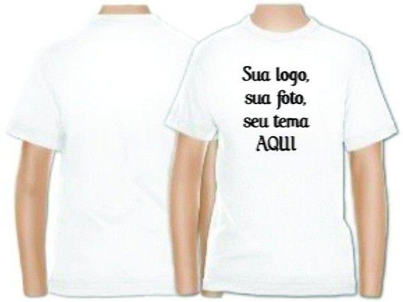camiseta lisa para sublimação 100% poliester - Foto 2